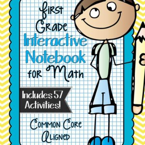 FIRST GRADE Math Interactive Notebook Bundle- Activities for Young ...