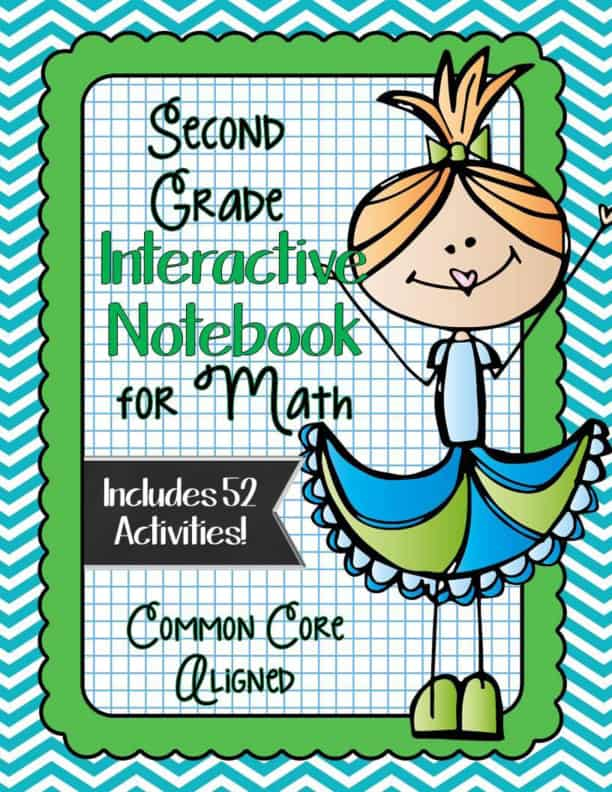 SECOND GRADE Math Interactive Notebook Bundle- Activities for Young ...