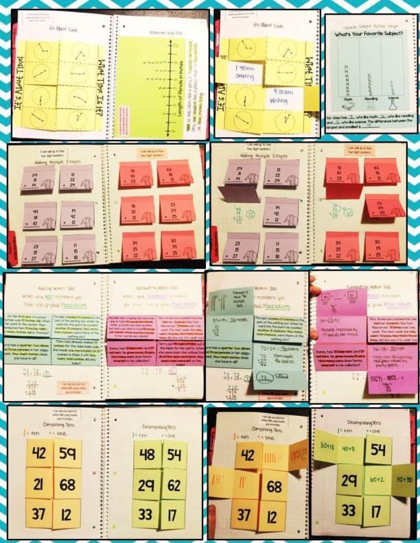 SPANISH Second Grade Math Interactive Notebook Bundle - Smith ...