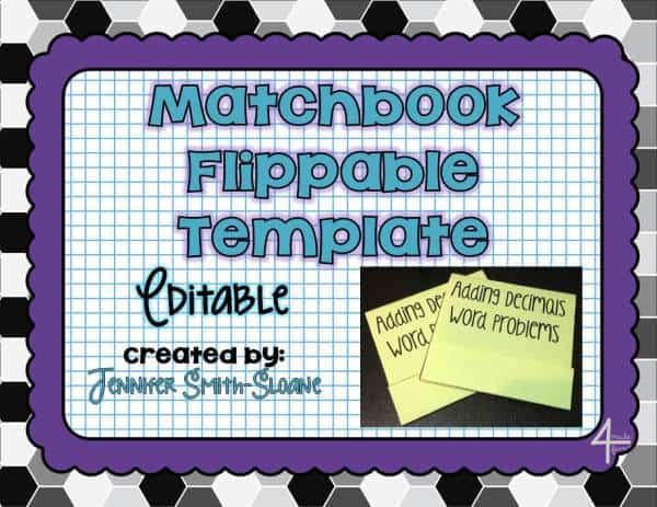 Matchbook Flippable Template