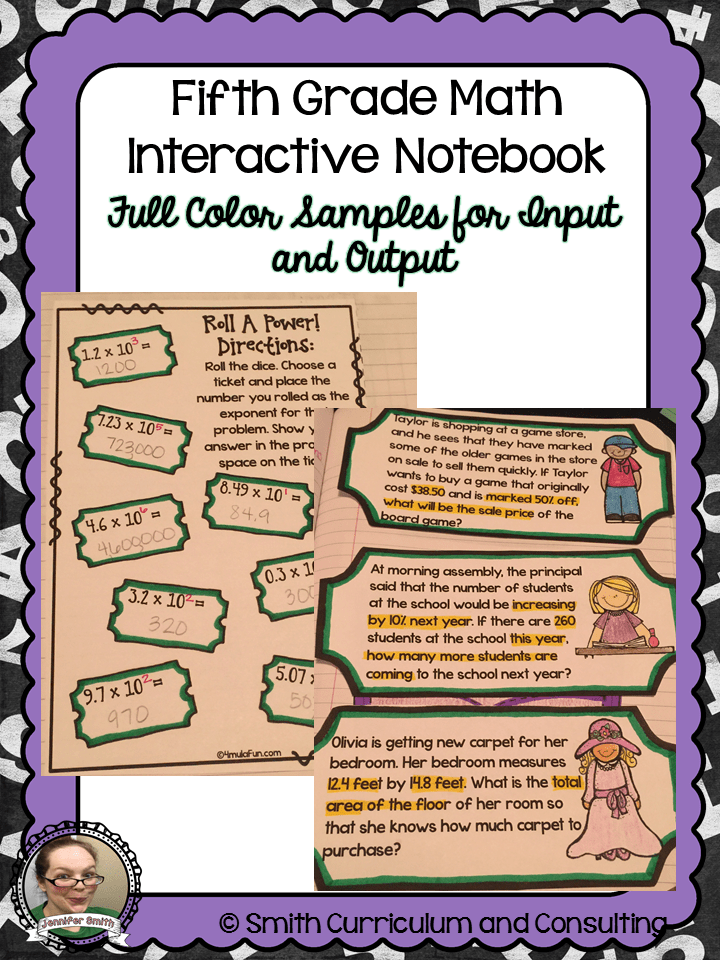 Interactive Math Notebooks For 5th Grade Setting Up