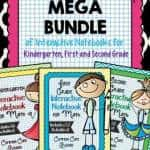 Mega Bundle of Kindergarten, First, and Second Grade Interactive Notebooks