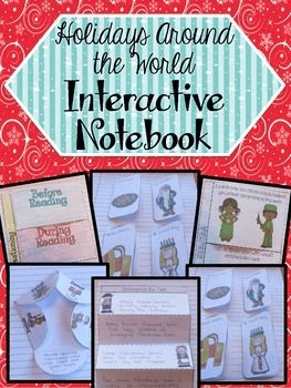Around the World Christmas Interactive Notebook