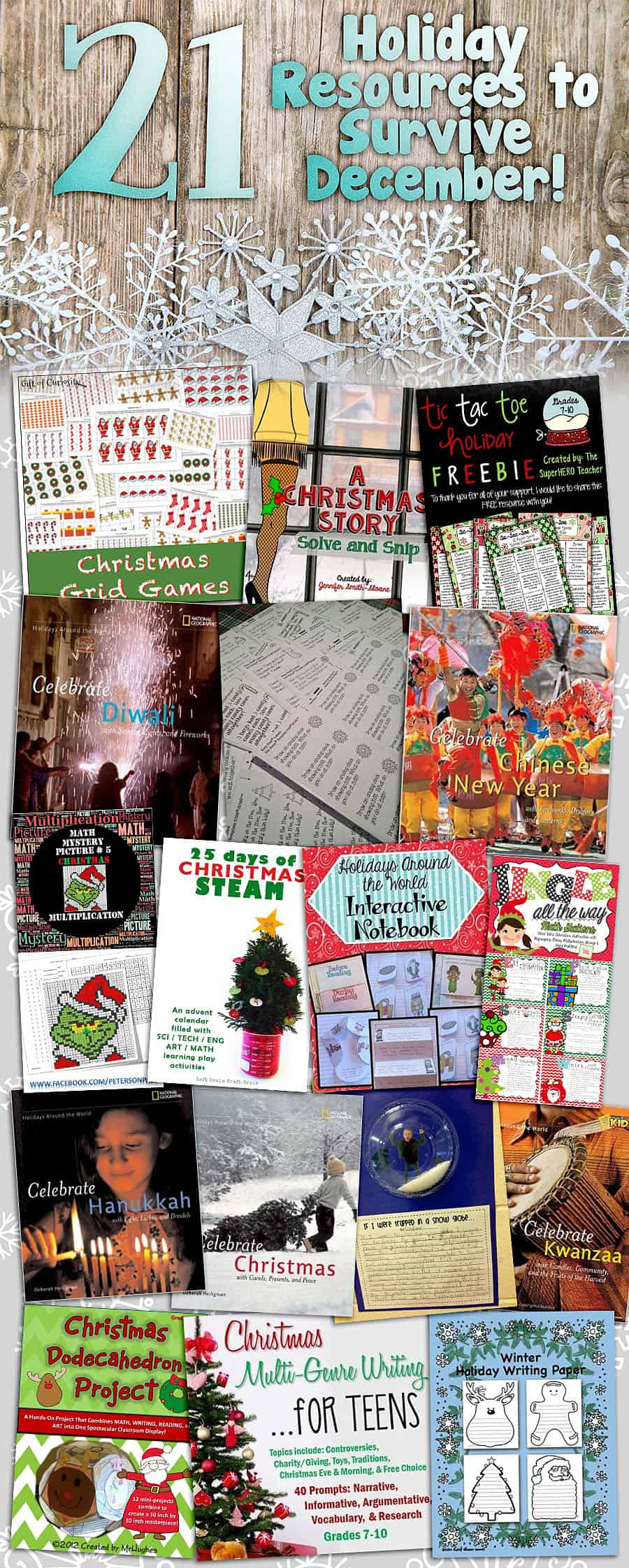 21 Holiday Educational Resources to Survive December