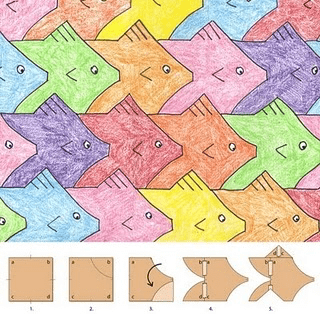 Tessellations have always been popular STEAM activities – here's one for fish, there's plenty more online for all grade levels!