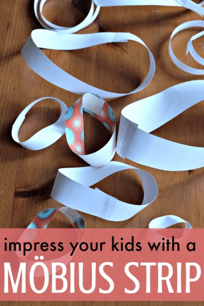Kids are always impressed with mobius strips!