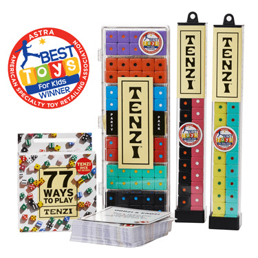 Tenzi is a very versatile game for covering many learning skills – even speech! There's actually no one way to play – there's even an add-on pack with instructions for 77 different ways to play Tenzi!