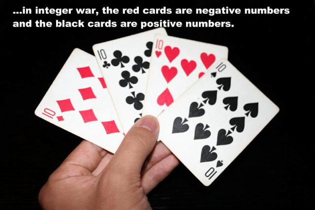 Integer War helps reinforce what integers are and how to solve integer problems quickly.