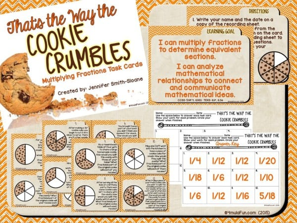 Struggling wtih Multiplying Fractions? That's the Way the Cookie Crumbles not only focuses on multiplying fractions but has students understanding the why of how fractions cause quantities to reduce in size.