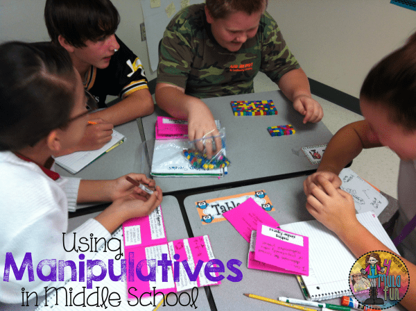 Using Manipulatives in Middle School