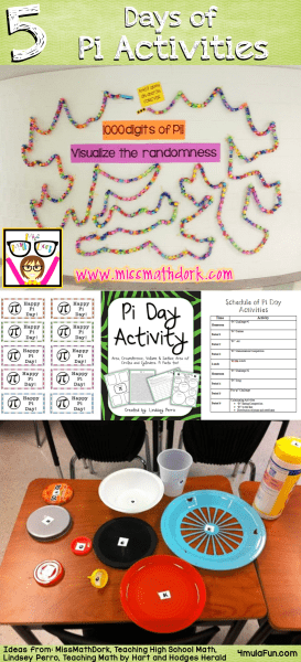 Did you see the 5 days of ePIc activities for Pi Day? Thanks to five different teachers there are some great ideas on how to make your celebration the best!