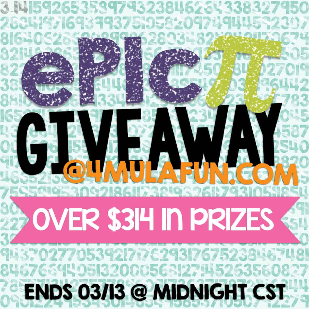 Epic Pi Giveaway – Over $314 In Prizes