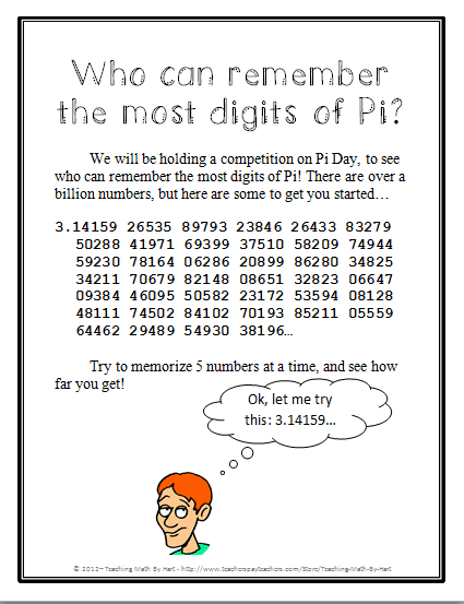 Pi competition