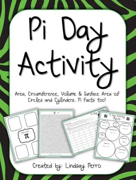 graphic regarding Pi Day Worksheets Printable referred to as Arms-Upon Cylinder Pi Working day Video game