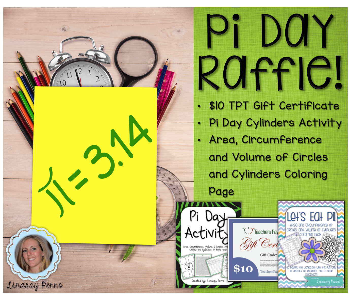 Hands-On Pi Day Cylinder Activity Raffle