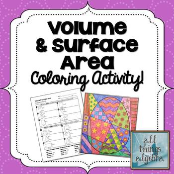Volume and Surface Area - Egg Coloring Activity