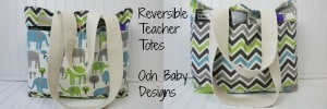 Reversible Teacher Totes by Ooh Baby Designs