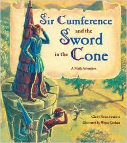 The Sir Cumference books are popular with all grade levels – they introduce geometric math problems in a real life application!