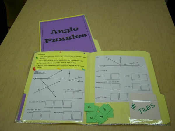 This page has ALL SORTS of great middle school math center ideas that are creative and engaging!