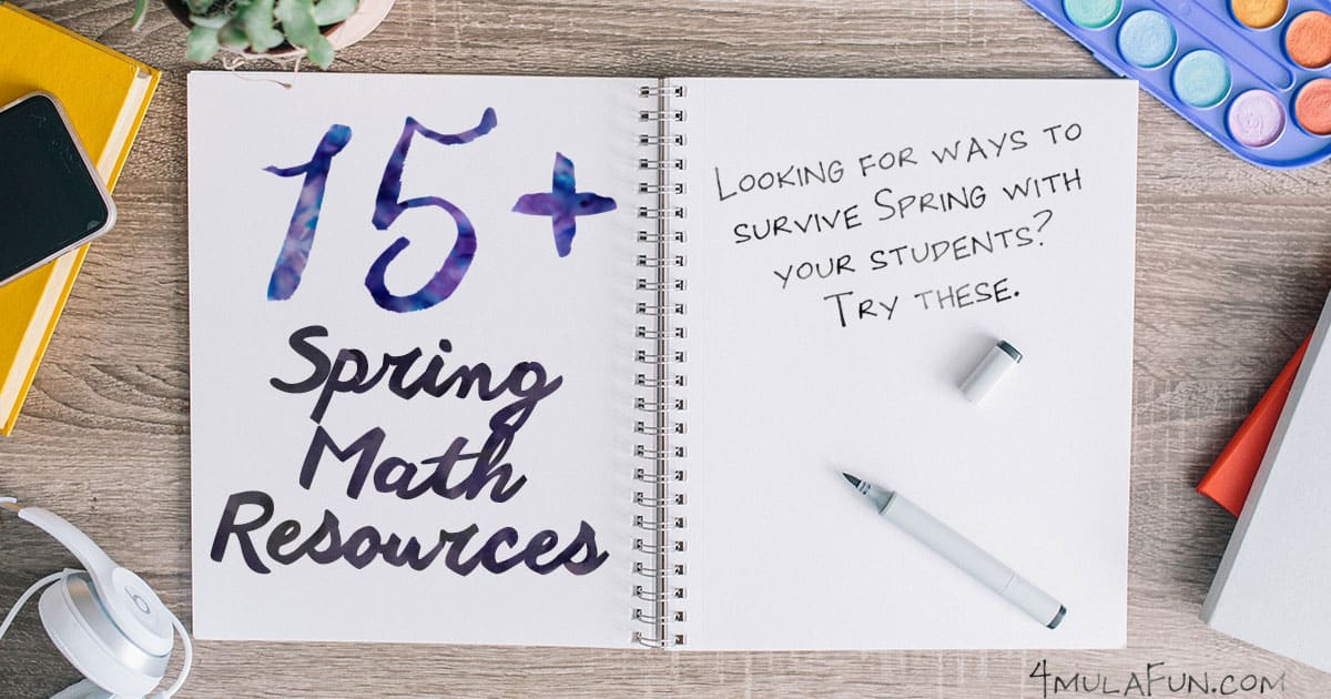Spring Math Resources Round Up!