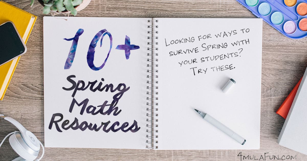 Looking for ways to survive Spring with your students? They're probably already squirming in their chairs, wishing recess lasted longer... and maybe you are too! Add in standardized testing and oh boy... no one wants to learn!   Grab these Spring Math Resources to help save your sanity and keep your students engaged – they're all fun, and a nice break from your usual routine.