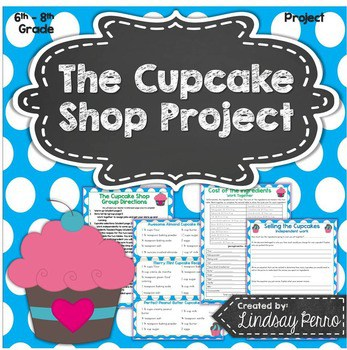 Who doesn't love cupcakes? Lindsey Perro's The Cupcake Shop allows students to apply fraction, decimal and percent skills with real-life situation of beginning their own cupcake shop. Students must work together to not only name their store but then choose the cupcakes they plan to offer, purchase the ingredients in the right amounts for the amount they plan to bake each day, and so much more. Now I'm definitely craving a cupcake!