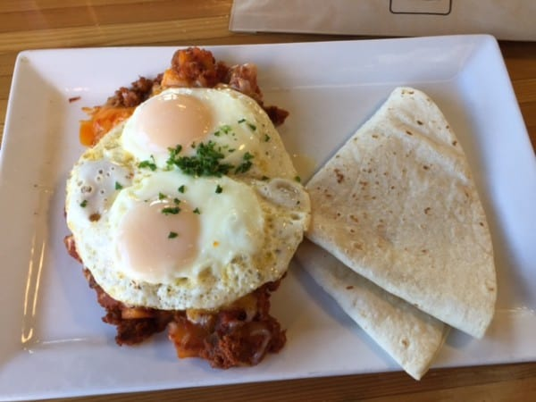 Huevos and Chorizo Sautee at NCounter in Tempe, Arizona