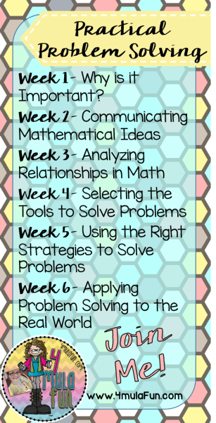 Each week over the SIX WEEK period we will delve into different components of Practial Problem Solving and the importance in our classrooms to develop critical problem solvers!