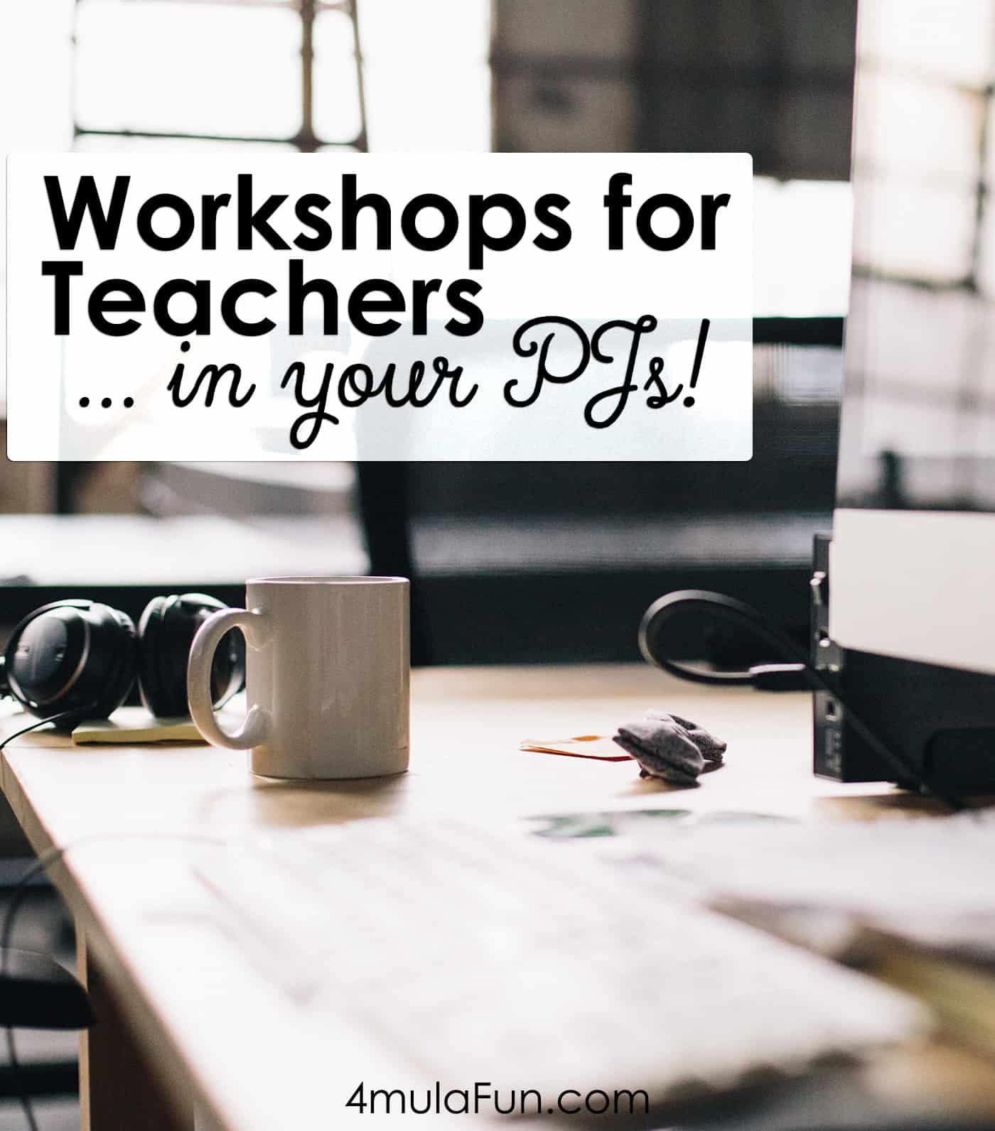 Work on your professional development in differential curriculum or interactive notebooks without even leaving the comfort of your own home! Here's all the info on how you can attend continuing education workshops for educators online!