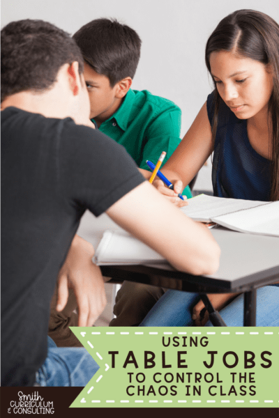 Using Table Jobs in the Classroom