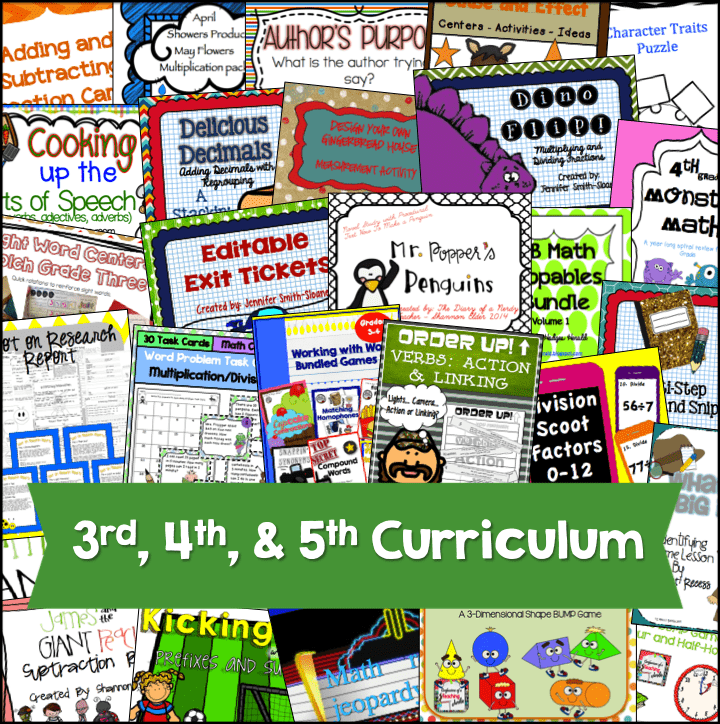 EduCents Bundle for Third, Fourth and Fifth Grade Teachers- AMAZING SAVINGS!