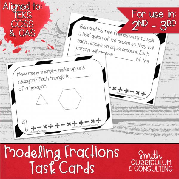 Modeling Fractions Task Cards