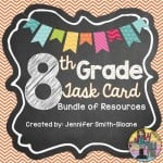 Eighth Grade Math Task Cards for All Concepts Current and in the Future