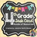 Bundle of Math Task Cards for Fourth Grade