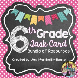 All of the Math Task Cards that you need for working with Sixth Grade