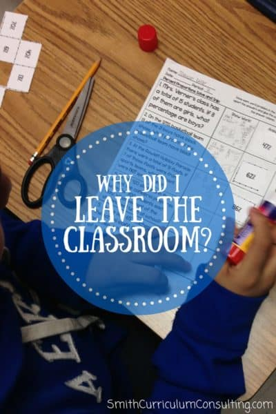 Some words on why I left the classroom and what has happened in my life because of doing so.