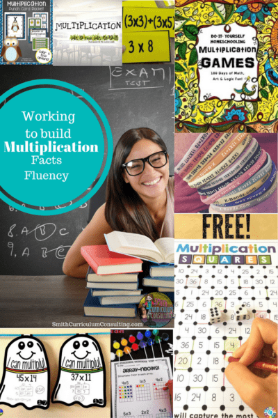 Working to Build Multiplication Fact Fluency- Activities to use today in your classroom or Intervention