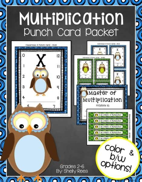 multiplication-punch-card
