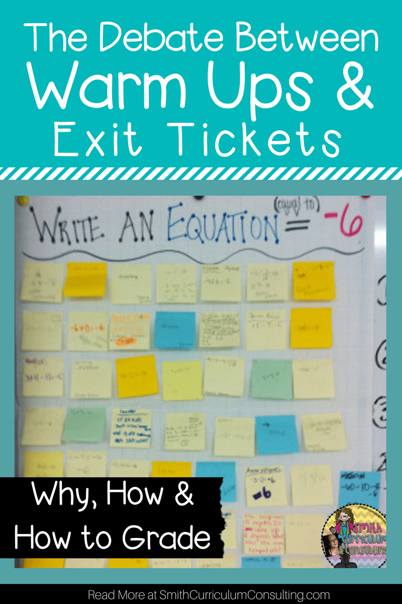 Do you use Warm Ups in your classroom? Come see why I converted to using only Exit Tickets in my classroom and I began to be able to better assess and understand the learning of my students on a regular basis with some tips on new types of Exit Tickets and ways of grading.