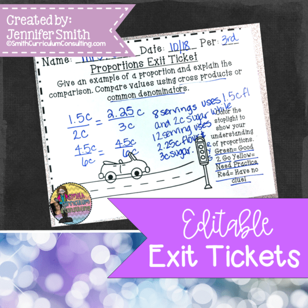 Editable Exit Tickets to make your job easier!