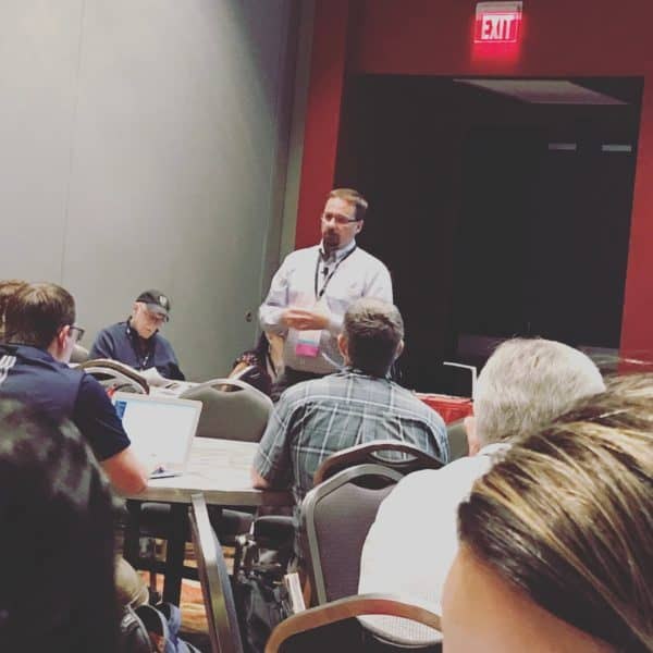 Dr. Cory Bennett presents his Number Talks in the Middle Grades Presentation at NCTM Annual in San Antonio, TX