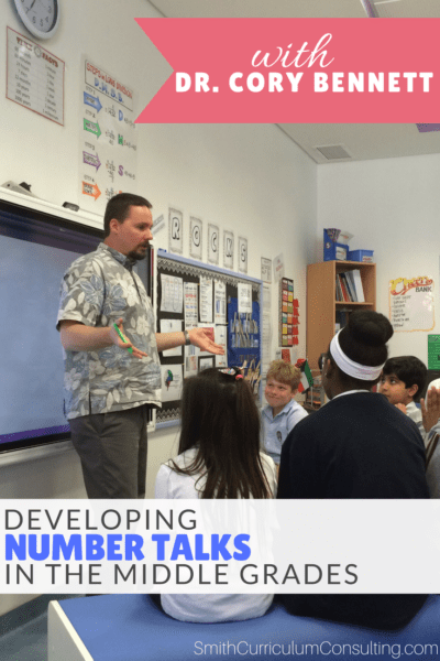 Are you struggling with implementing Number Talks in your middle school math classroom? Join me as Dr. Cory Bennett explains how he bridged the gap with Reasoning Talks to help his middle grades learners successful in just ten minutes a day.