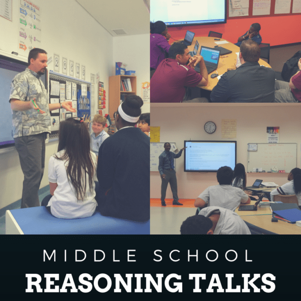 """Implementing Number Talks in your Middle School Math classroom doesn't have to be stressful. Understanding the """"why"""" and """"how"""" behind them is just the beginning and Dr. Cory Bennett explains how he has now created successful learning with Reasoning Talks in his middle grades classes. Freebie Template included!"""