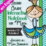 Second Grade Math Interactive Notebook in Spanish