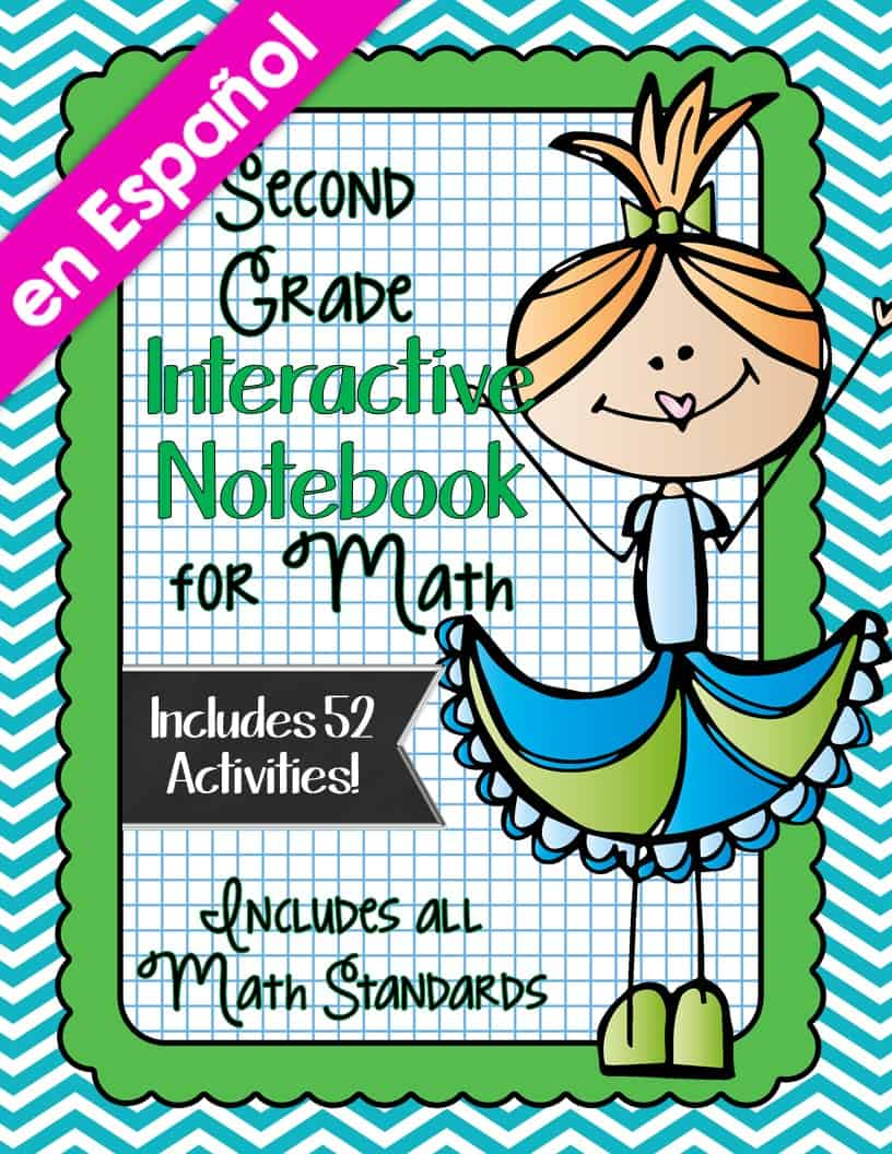 Spanish Second Grade Math Interactive Notebook Bundle Smith