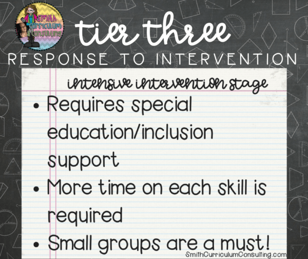What is Tier Three Response to Intervention? What are the components of it in our classrooms?