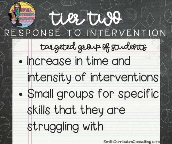 What is Tier Two Response to Intervention? What are the components of it in our classrooms?
