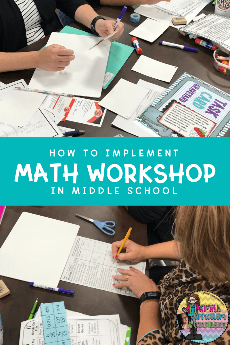 Are you struggling with implementing Math Workshop at the Middle School level? After many years of using Math Workshop in my classroom I am sharing some of the basics on planning, setting up and implementing math workshop right away!