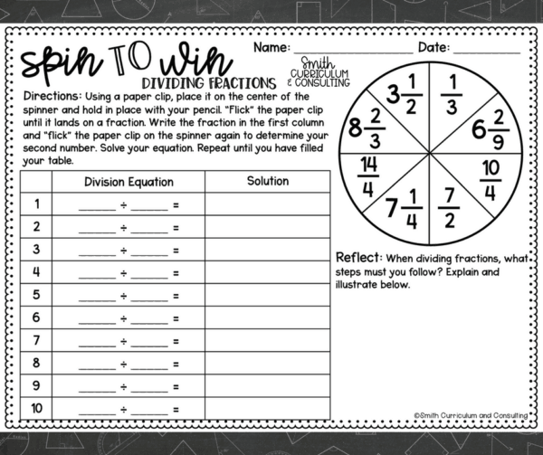 Spin to Win is an instant hit in any class! Available for all math concepts for Fourth Grade through Eighth Grade.