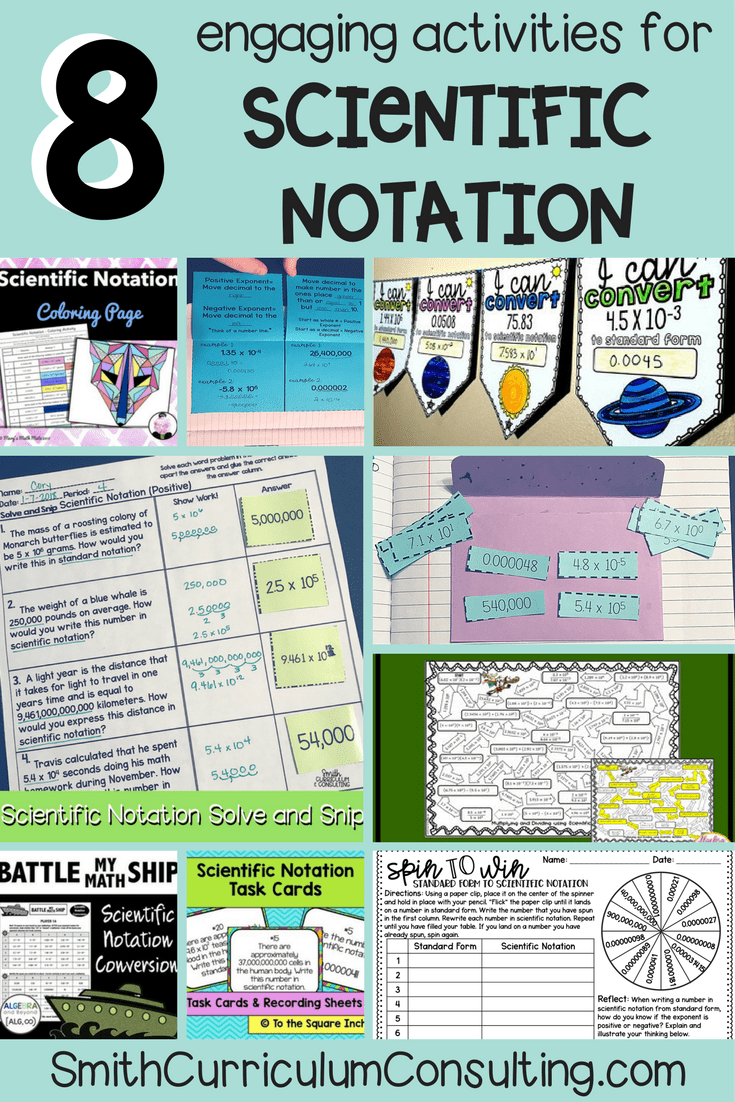 Eight Engaging Activities for Scientific Notation